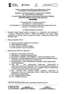 Regulamin realizacji projektu dla uczestnika AKTUALIZACJA 7.12.2018