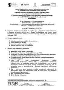 Regulamin realizacji projektu dla uczestnika