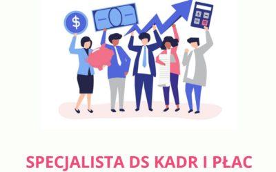Oferta pracy: specjalista działu kadr i płac
